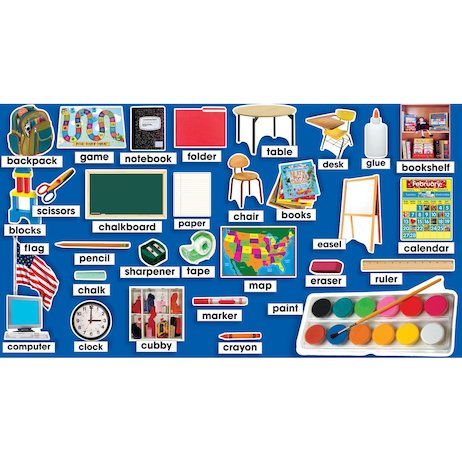 Classroom Photos and Labels Mini Bulletin Board