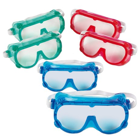 Coloured Safety Goggles x 6