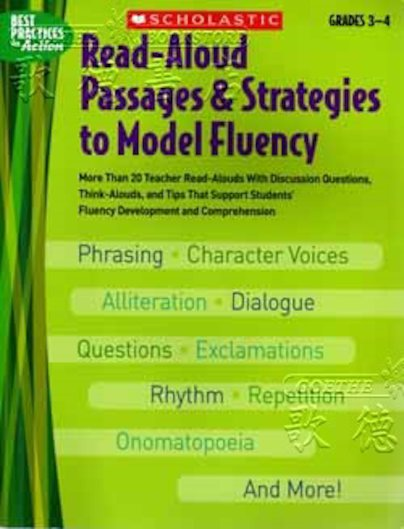 Read-Aloud Passages & Strategies to Model Fluency: Grades 3-4