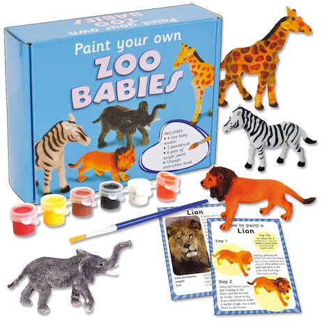 Paint Your Own Zoo Babies