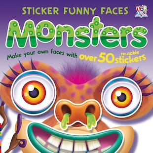 Sticker Funny Faces: Monsters