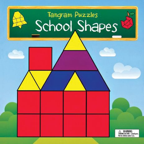 Tangram Puzzles: School Shapes