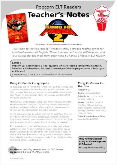 Kung Fu Panda 2: Teacher's Notes