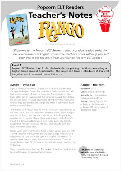 Rango: Teacher's Notes