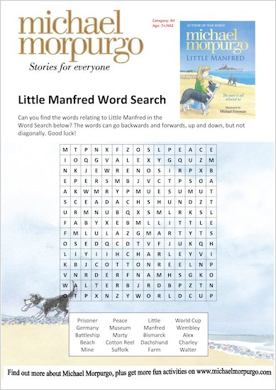 Little Manfred Word Search