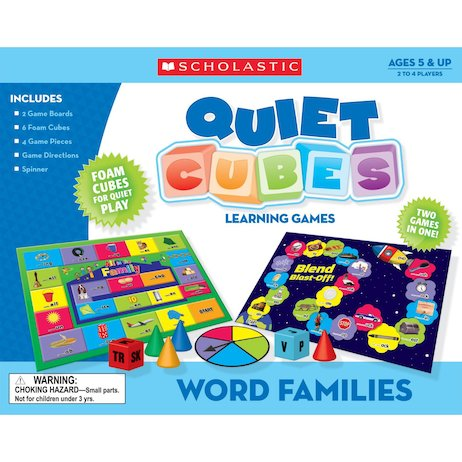 Quiet Cubes Games: Word Families