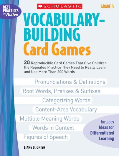 Vocabulary-Building Card Games: Grade 5