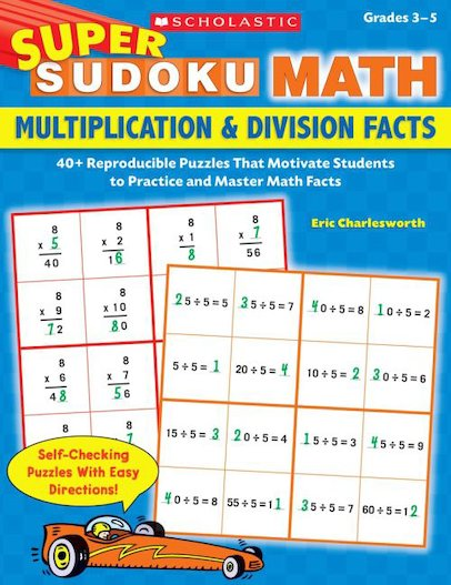 Super Sudoku Math: Multiplication and Division Facts