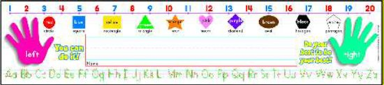 Super School Tool Standard Manuscript Name Plates Primary Grades