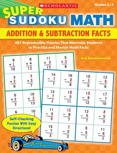 Super Sudoku Math: Addition and Subtraction Facts