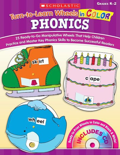 Turn-to-Learn Wheels in Color: Phonics