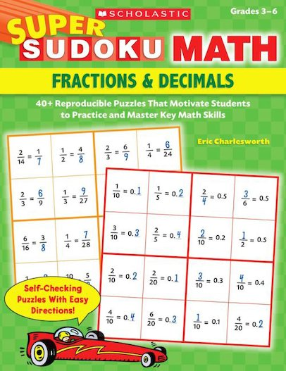 Super Sudoku Math: Fractions and Decimals