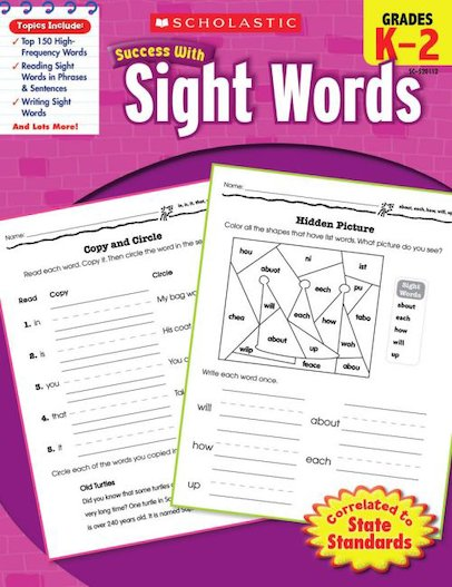 Scholastic Success with Sight Words, Grade K-2