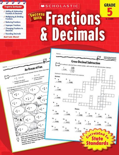 Scholastic Success with Fractions and Decimals, Grade 5