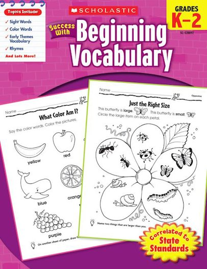 Scholastic Success with Beginning Vocabulary, Grades K-2