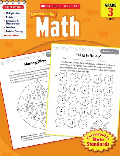 Scholastic Success with Math, Grade 3