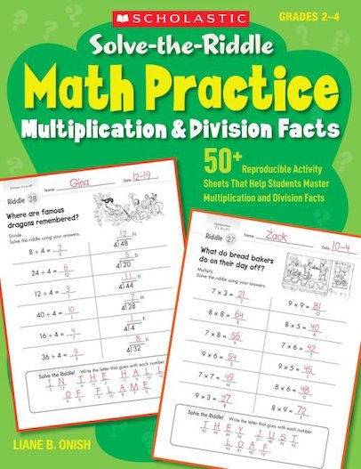 Solve-the-Riddle Math Practice: Multiplication and Division Facts