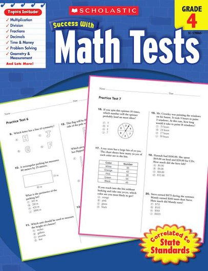 Scholastic Success with Math Tests, Grade 4
