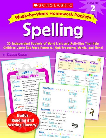 Week-by-Week Homework Packets: Spelling: Grade 2