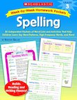 Week-by-Week Homework Packets: Spelling: Grade 3