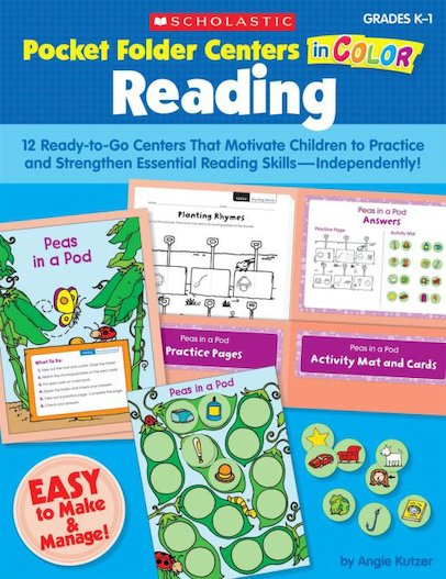 Pocket-Folder Centers in Color: Reading K-1