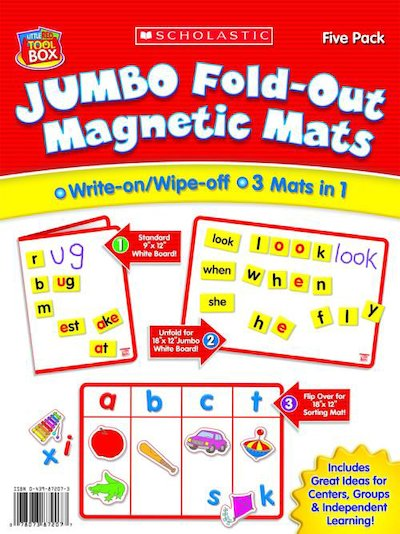 Little Red Tool Box: Jumbo Fold-Out Magnetic Mats 5-Pack