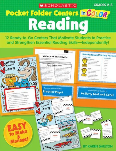 Pocket-Folder Centers in Color: Reading: Grades 2-3
