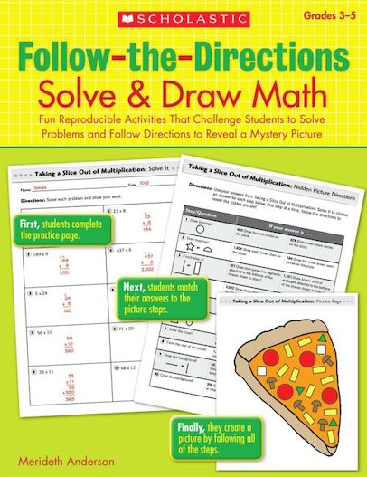 Follow-The-Directions: Solve and Draw Math (Grades 3-5)