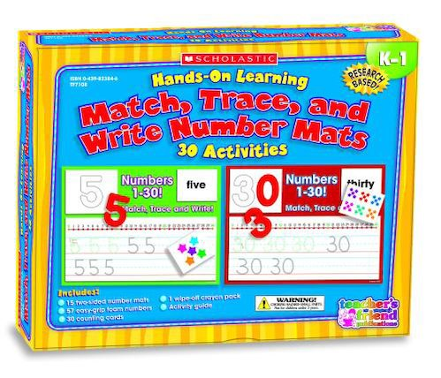 Match, Trace and Write Numbers Mats