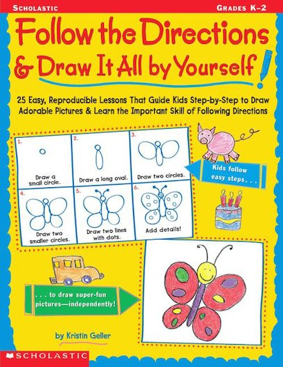 Follow The Directions And Draw It All By Yourself!