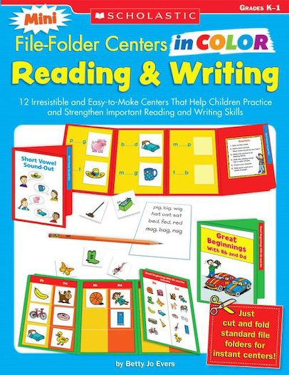 Mini File-Folder Centers in Color: Reading and Writing (K-1)
