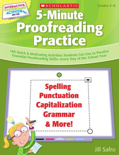 Interactive Whiteboard Activities: 5-Minute Proofreading Practice