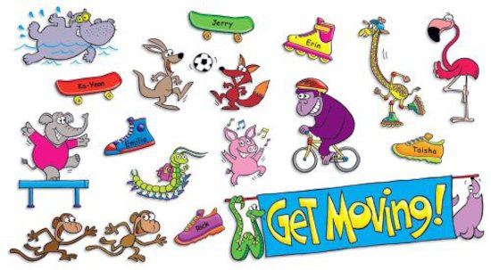 Get Moving Mini Bulletin Board
