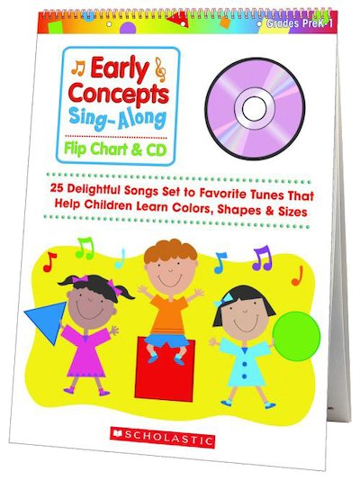 Early Concepts Sing-Along Flip Chart & CD