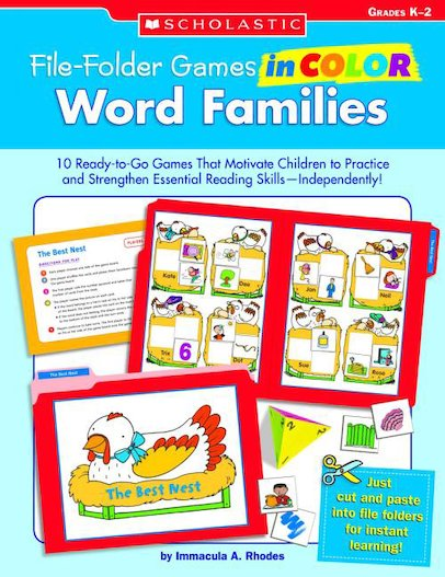 File Folder Games In Color: Word Families