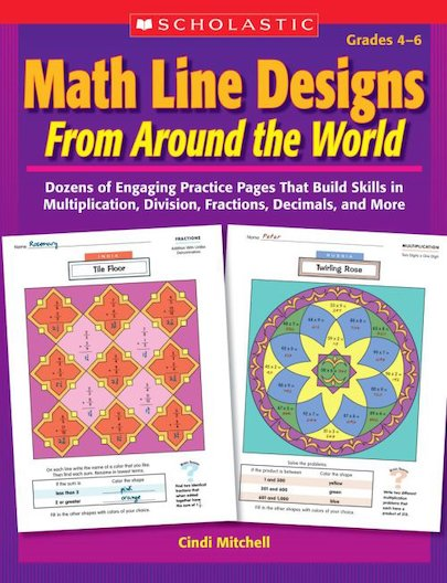 Math Line Designs Form Around The World: Grades 4-6