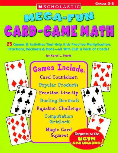 Mega-Fun Card-Game Math: Grades 3-5
