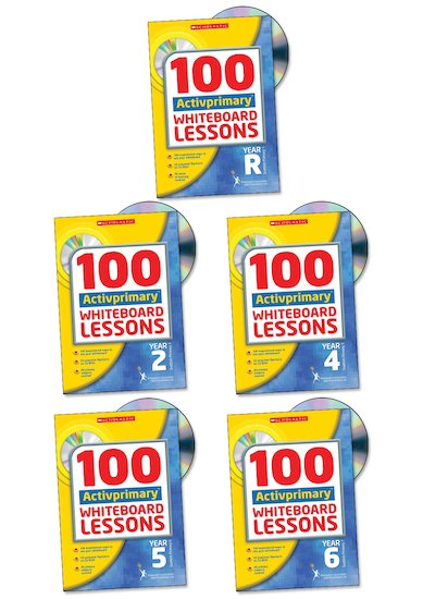 100 Activprimary Whiteboard Lessons Complete Pack (Mac)