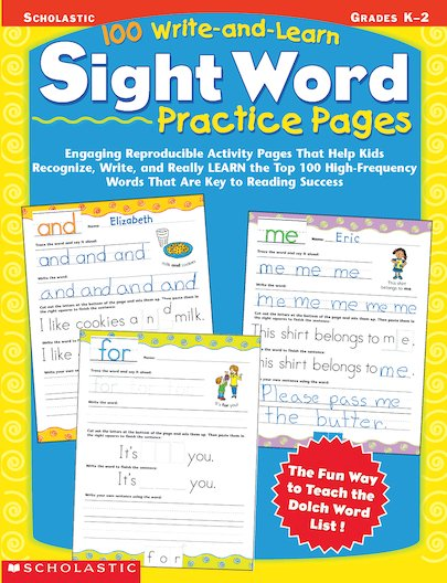 100 Write-and-Learn Sight Word Practice Pages
