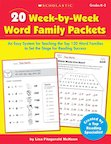 20 Week-by-Week Word Family Packets