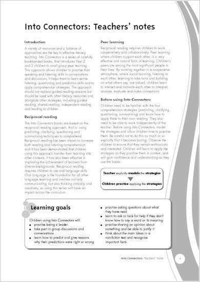 Into Connectors - Teachers' Notes
