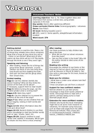 Volcanoes - Teachers' Notes