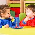 Nursery boys eating