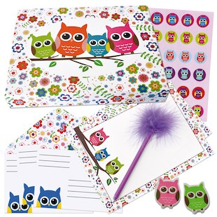 Owl Stationery Box