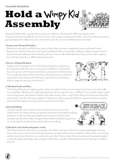 Wimpy Kid Teachers Resource Pack