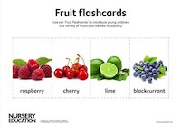 Fruit flash cards activity sheets