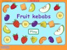 Fruit kebabs game