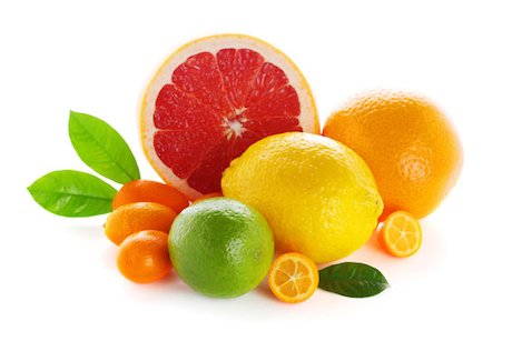 Selection of citrus fruits