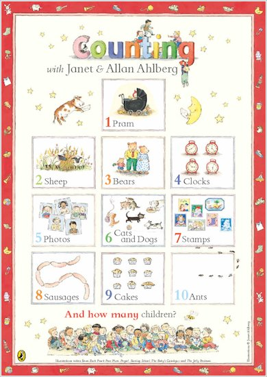 Ahlberg Counting Poster