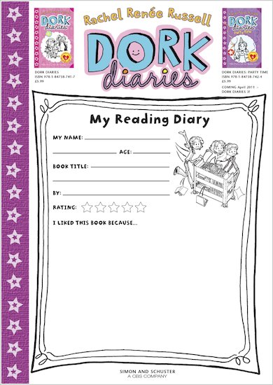 Dork Diaries Reading Diary